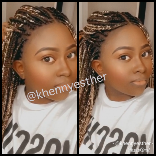 Knotless Box Braid Wig Khennyesther Wigs Bringing Out