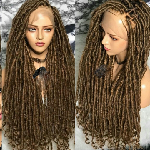 Messy Goddess Faux Loc Full Lace Wig Khennyesther Wigs