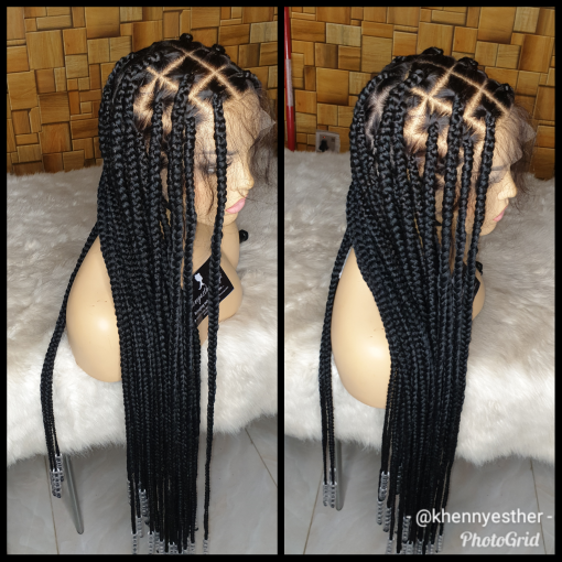 Full Lace Wig Katty Knotless Braid Khennyesther Wigs