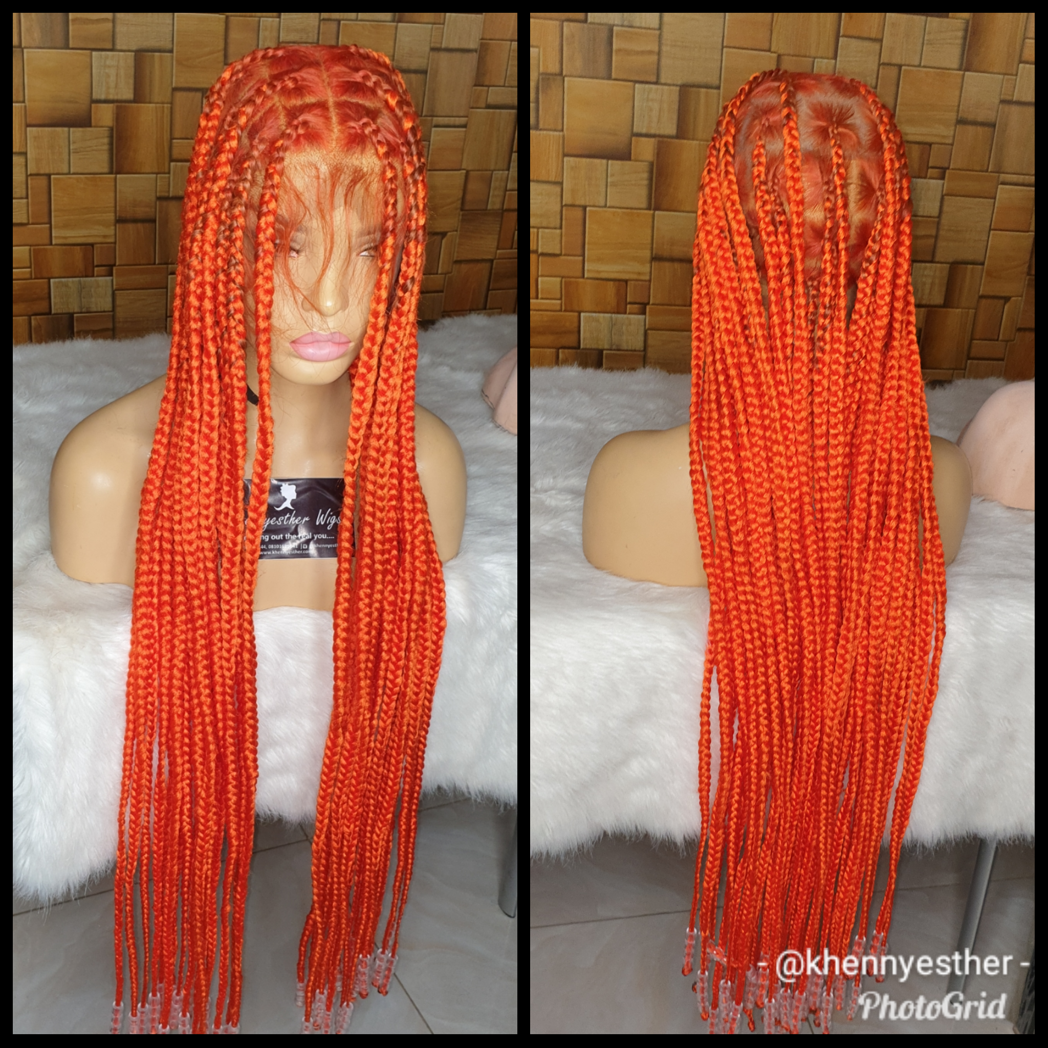 Full Lace Wig Custom Katty Knotless Box Braid Khennyesther Wigs Bringing Out The Real You
